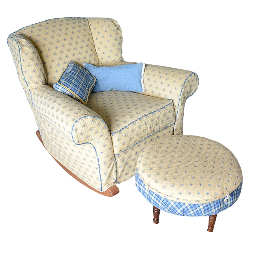 norwalk furniture rocking chair with coordinating ottoman ebth