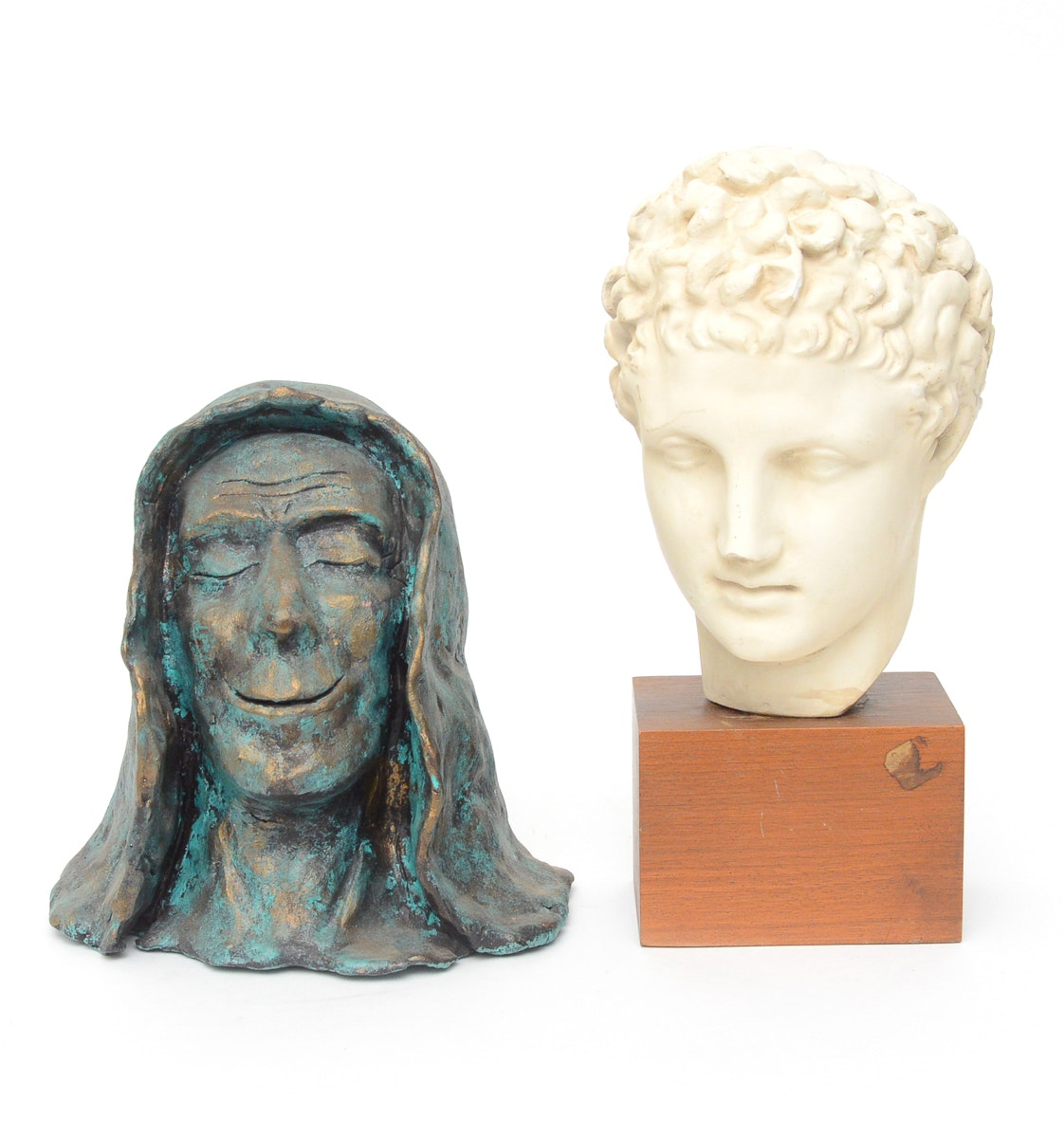 Terracotta Bust and Plaster Bust