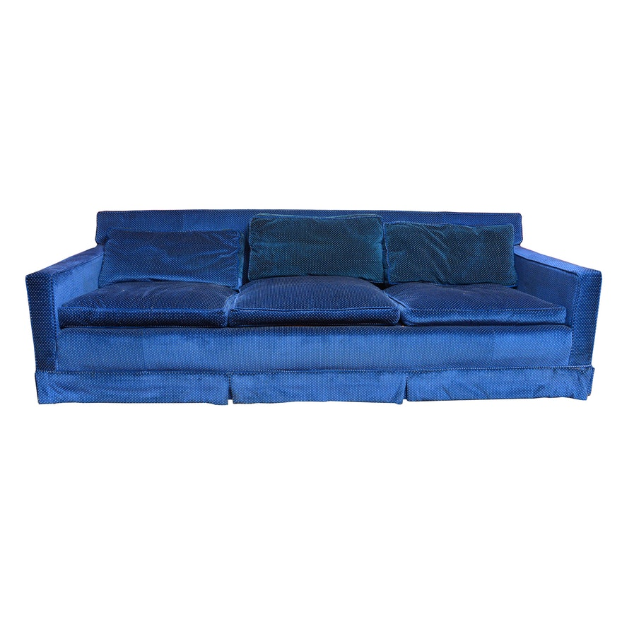 Velour Sofa Stunning High Quality Silver Crushed Velour