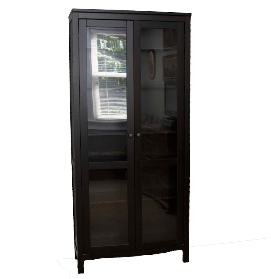 ikea hemnes glass door cabinet ebth