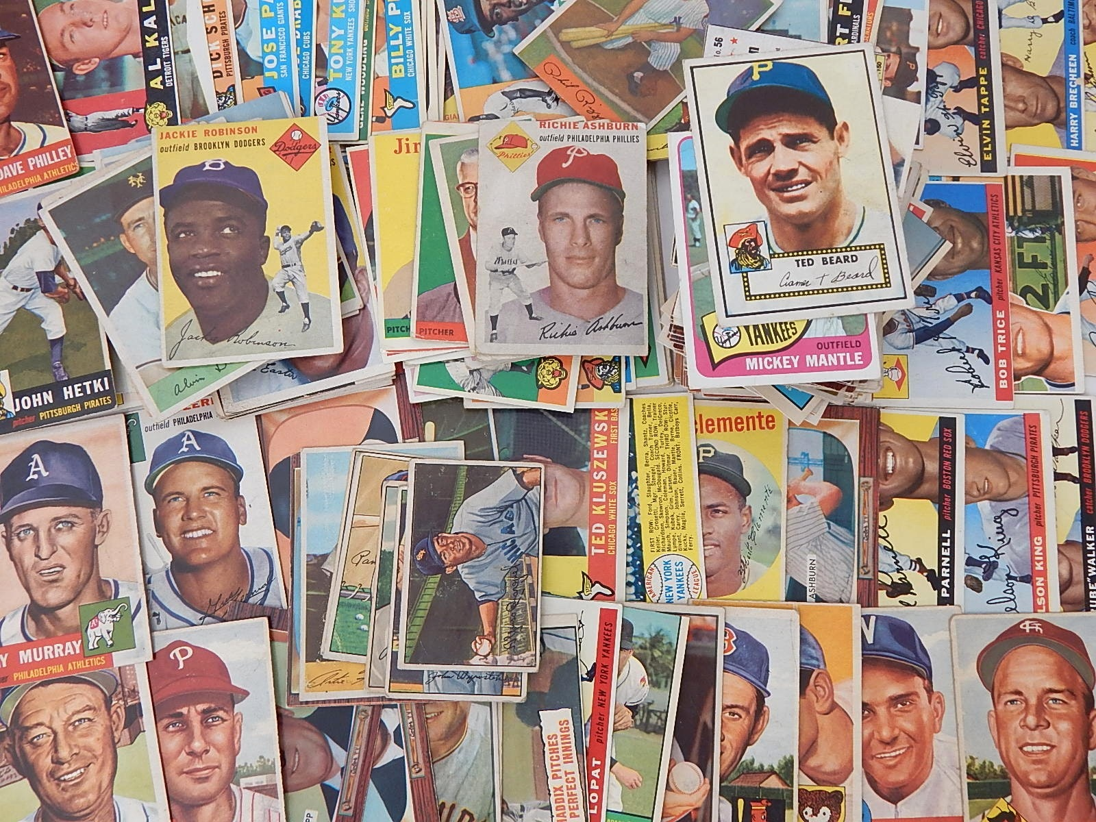 1951 to 1962 TOPPS and Bowman Baseball Card Collection plus 1967 Mickey Mantle