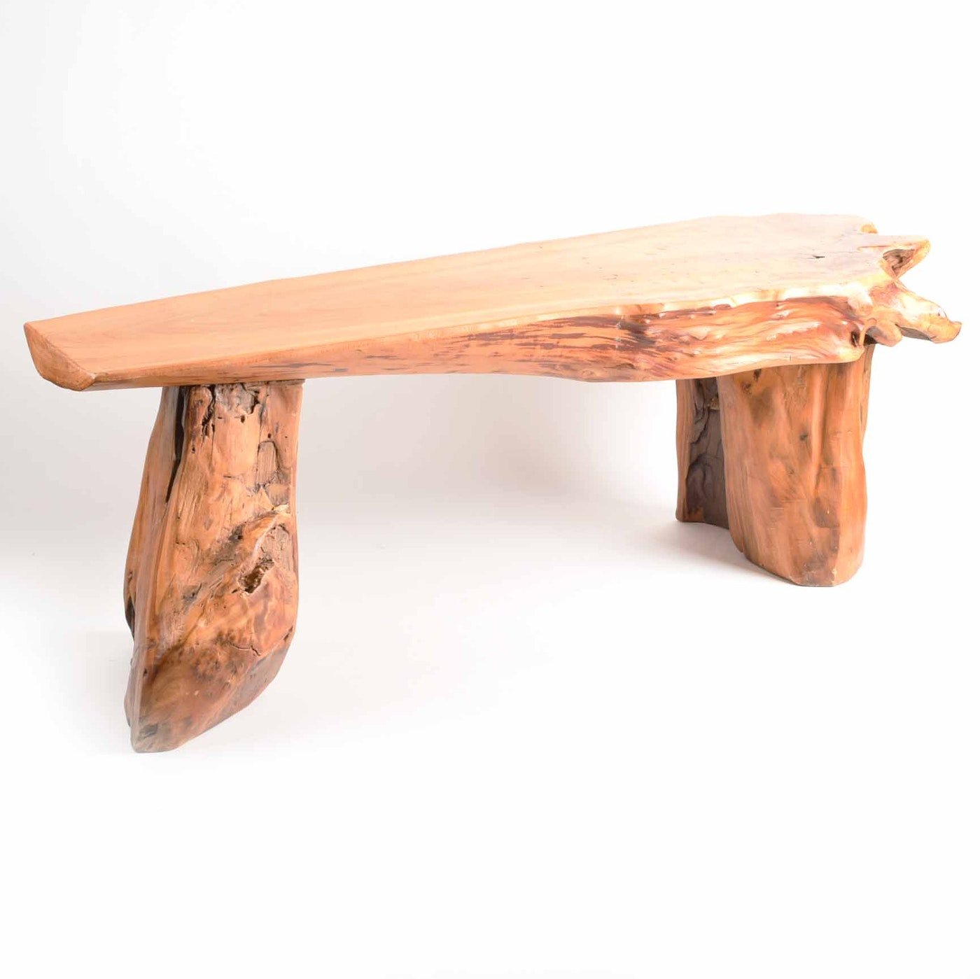 Rustic live edge wood coffee table or bench ebth Live wood coffee table