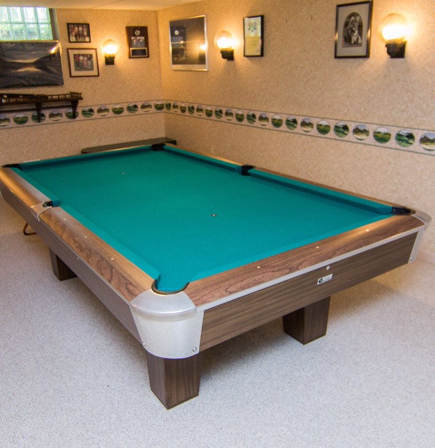Top Of The Line Pool CuesVintage Top Line Pool Table With - Topline pool table