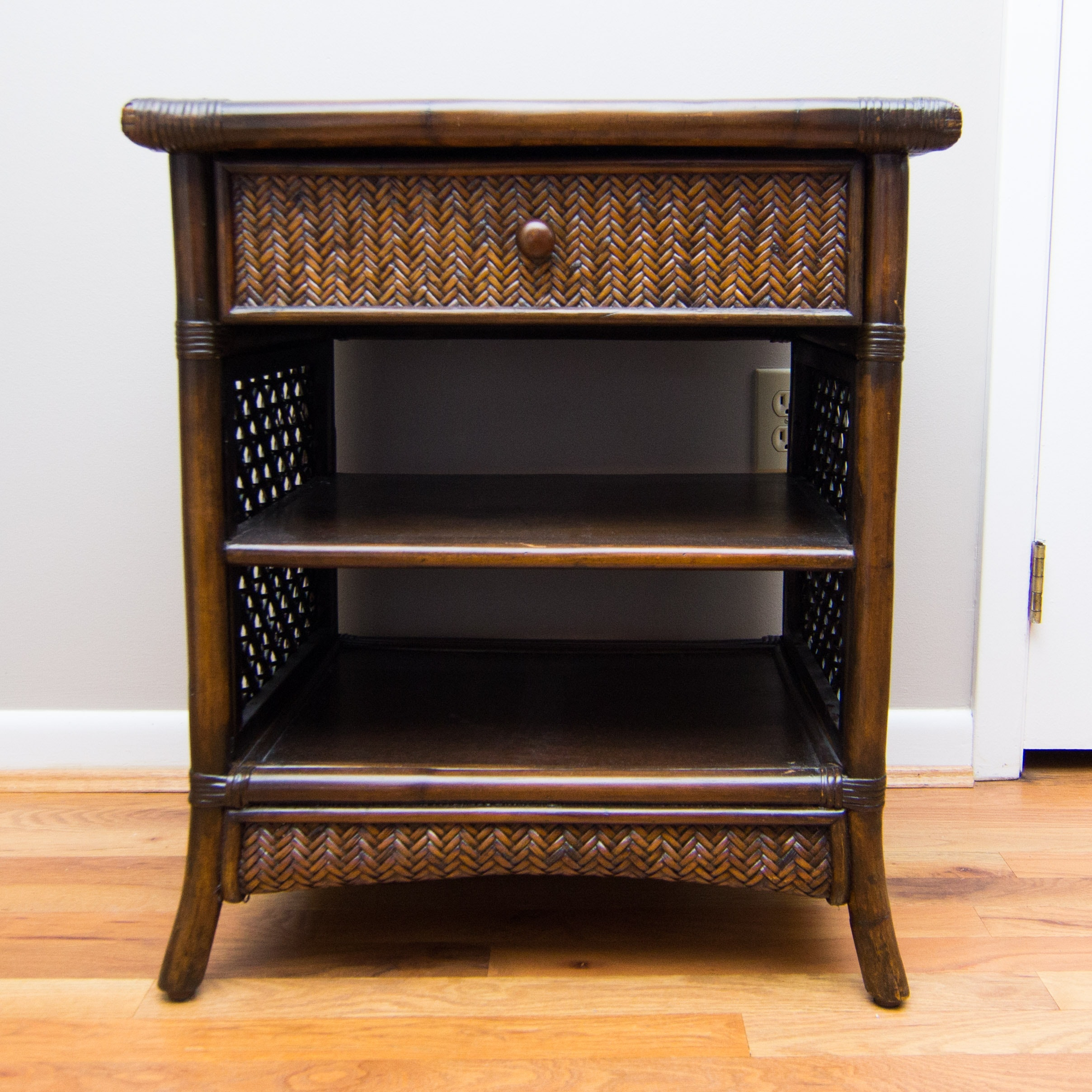 Pier 1 Imports Bamboo And Wicker End Table ...