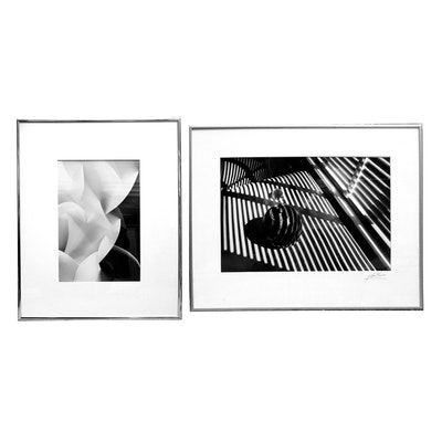 Pair of black and white photography prints