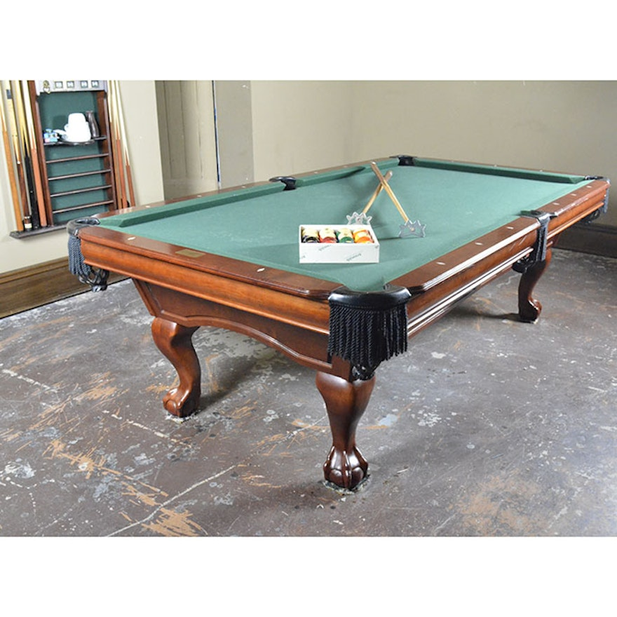 Contemporary Chippendale Style Pool Table By Gandy With Accessories - Gandy pool table