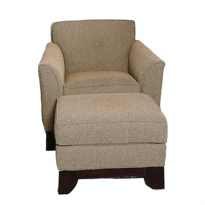The pace collection zator chair and ottoman ebth for Matching arm chairs
