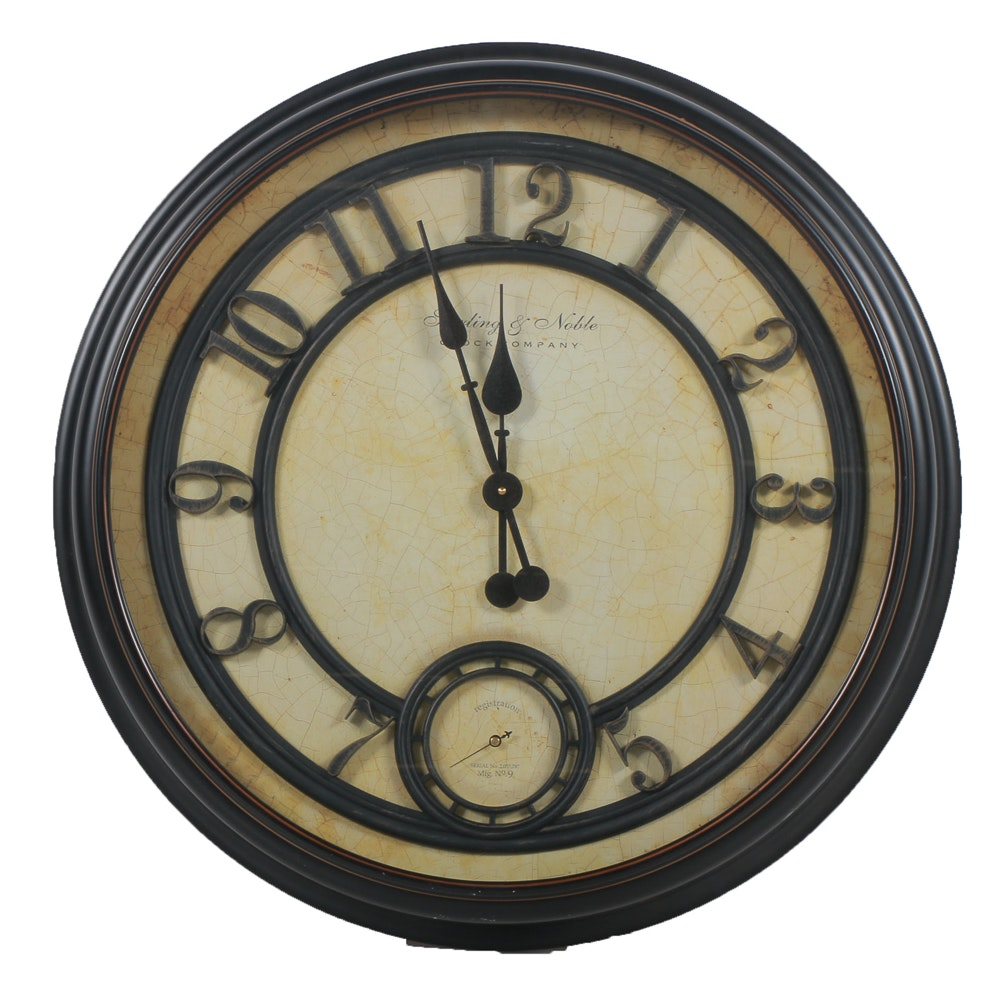 Sterling and Noble Wall Clock Sterling