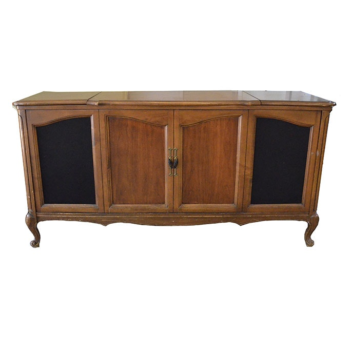 Penncrest Wooden Record Player Console