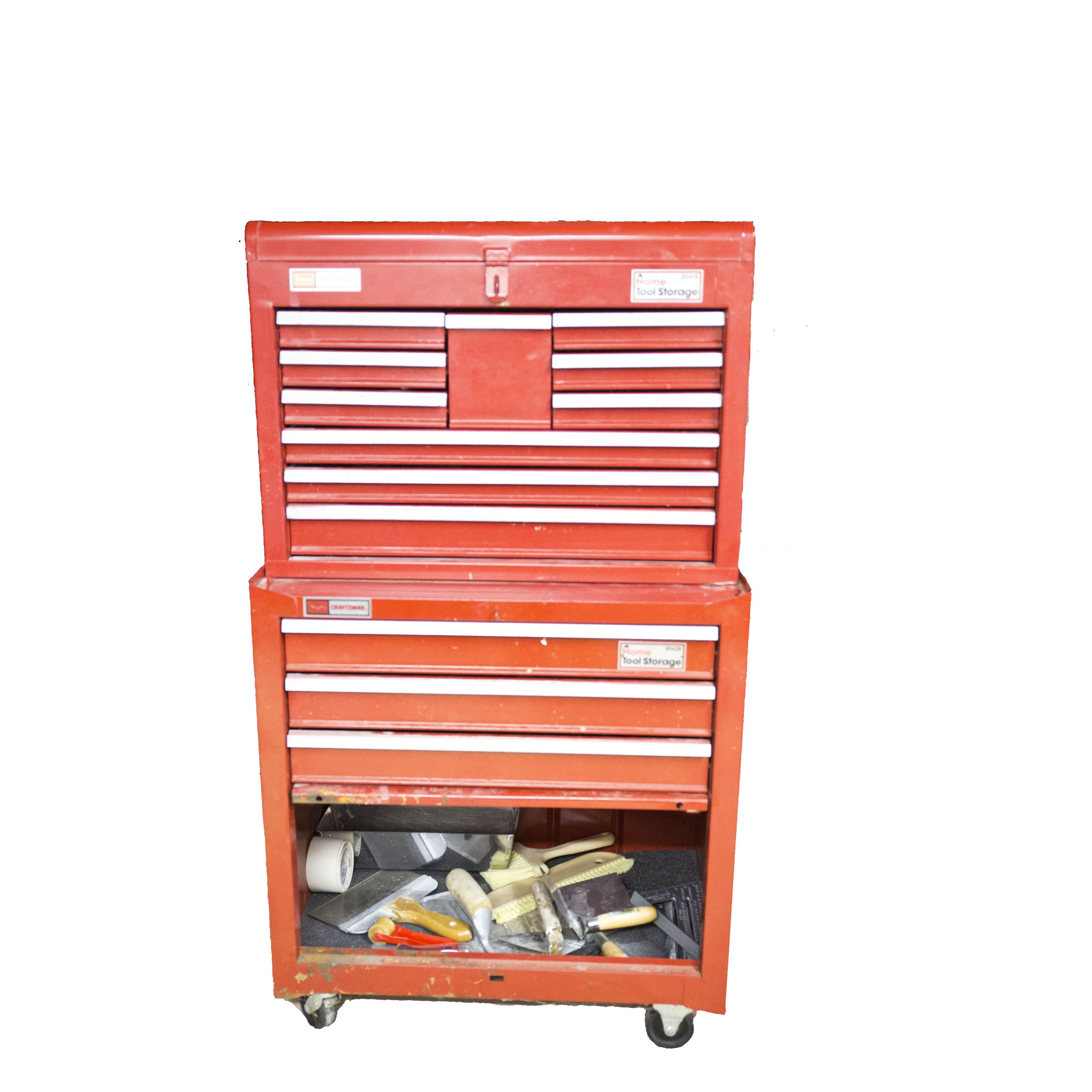 Red Craftsman Home Tool Storage Chest with Tools