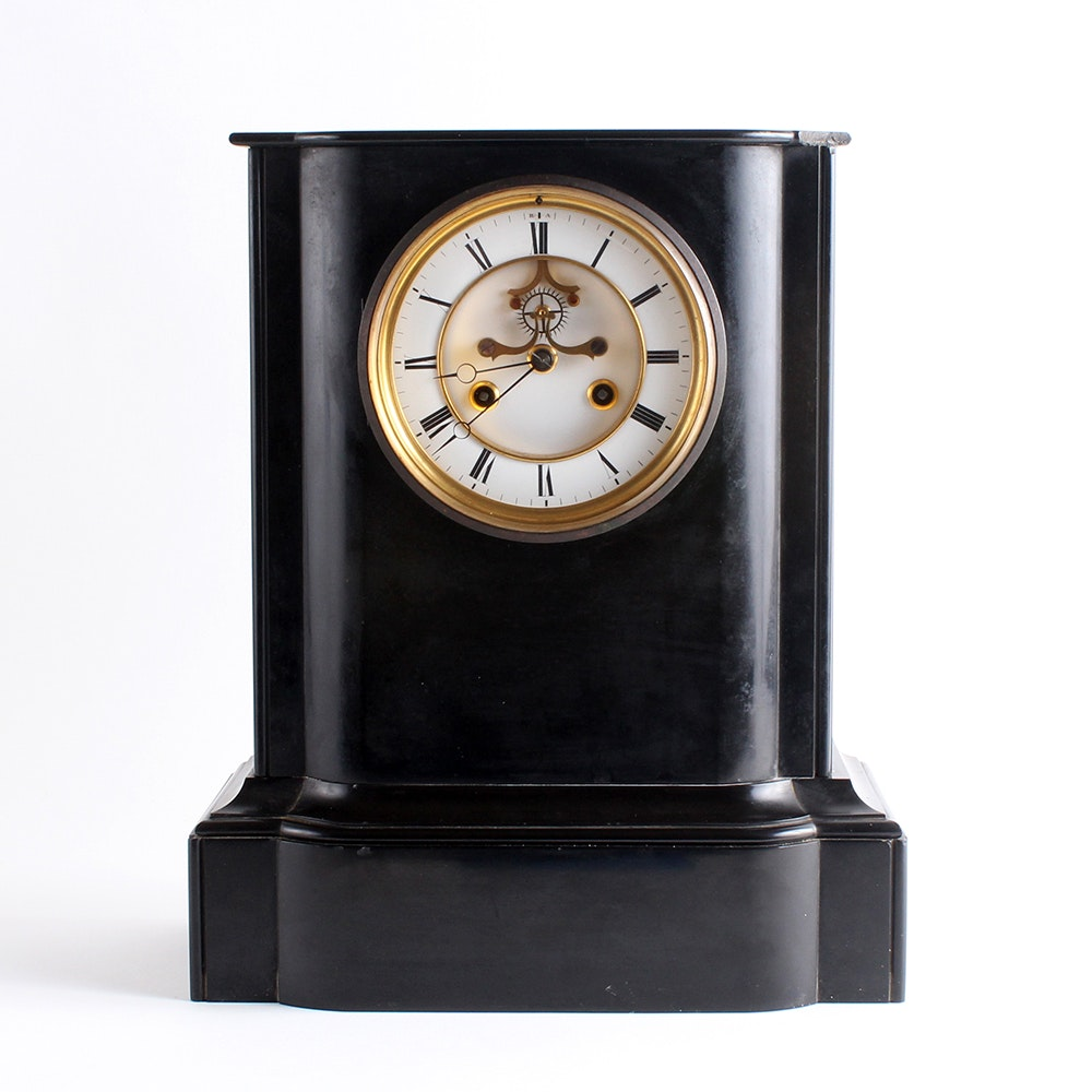 Black mantel clocks antique
