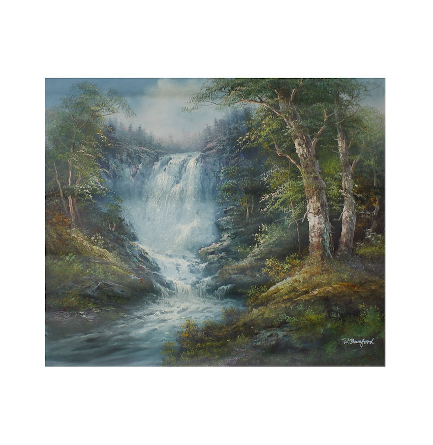 Oil painting on canvas by r danford ebth for What paint for canvas
