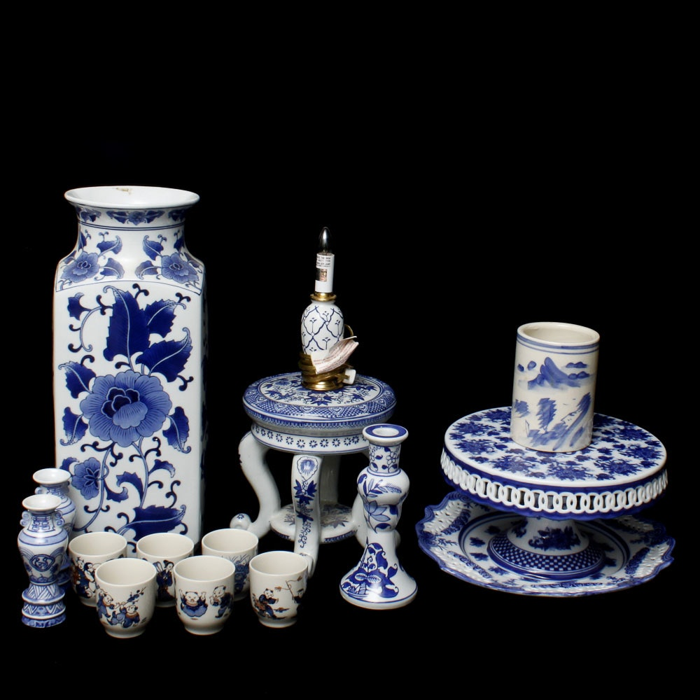 Blue and White Pottery Collection