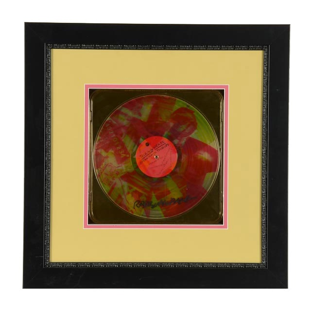 Robert Rauschenberg Signed Limited Ed. Talking Heads LP
