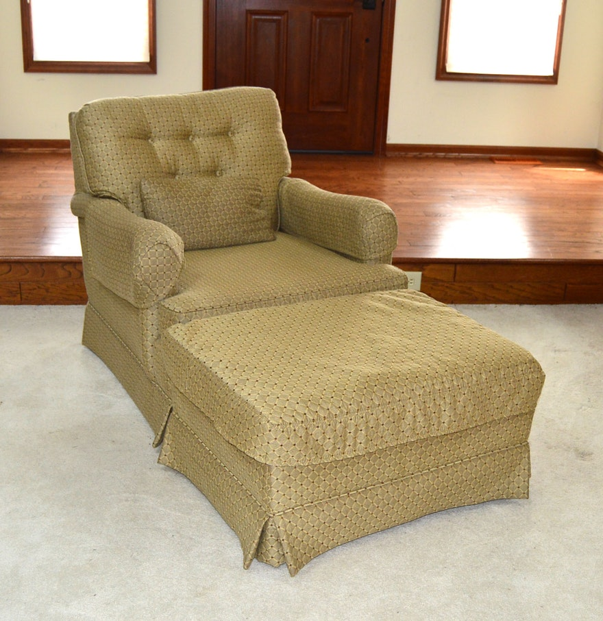Edwards Furniture Club Chair And Ottoman EBTH