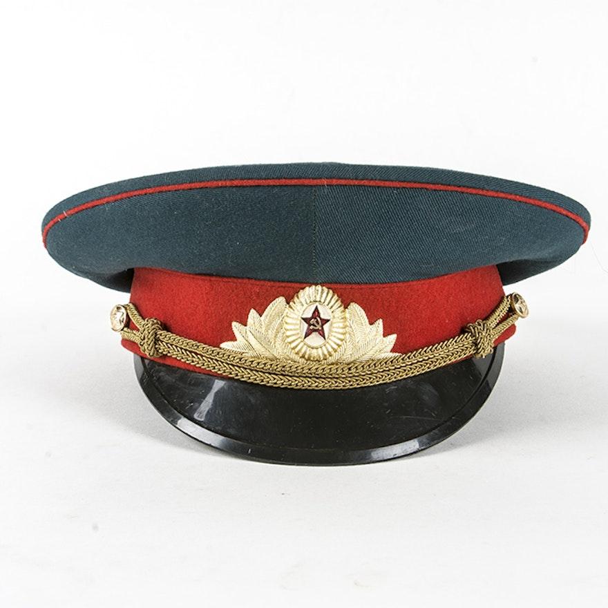 e7f2fe216 USSR Army Internal Troops Visor Ceremonial Hat