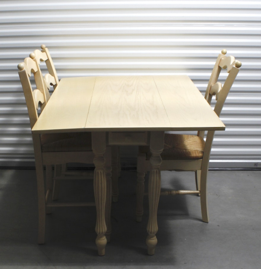 Country Style Dining Table And Chairs: French Country Style Drop Leaf Dining Table And Chairs : EBTH