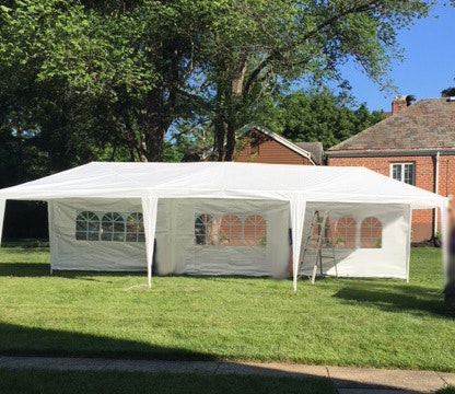 10 x 30 foot party tent outdoor gazebo canopy with sidewalls ebth