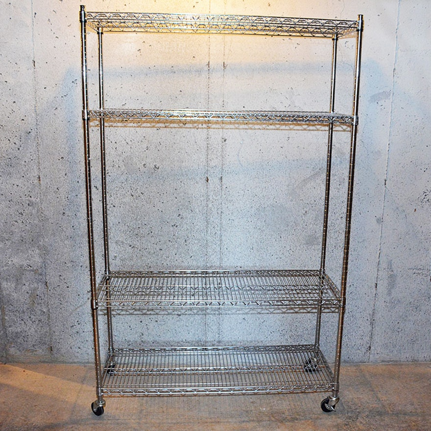 Contemporary Furniture Torrance: Contemporary Metal Shelving Cart By Seville Classics Inc