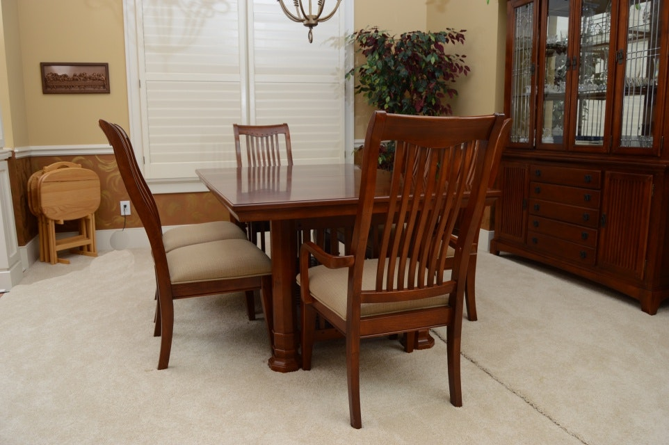 Mission Style Dining Table And Chairs By Legacy : EBTH