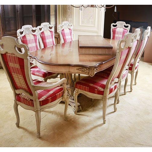 French Provincial Style Dining Room Table And Chairs