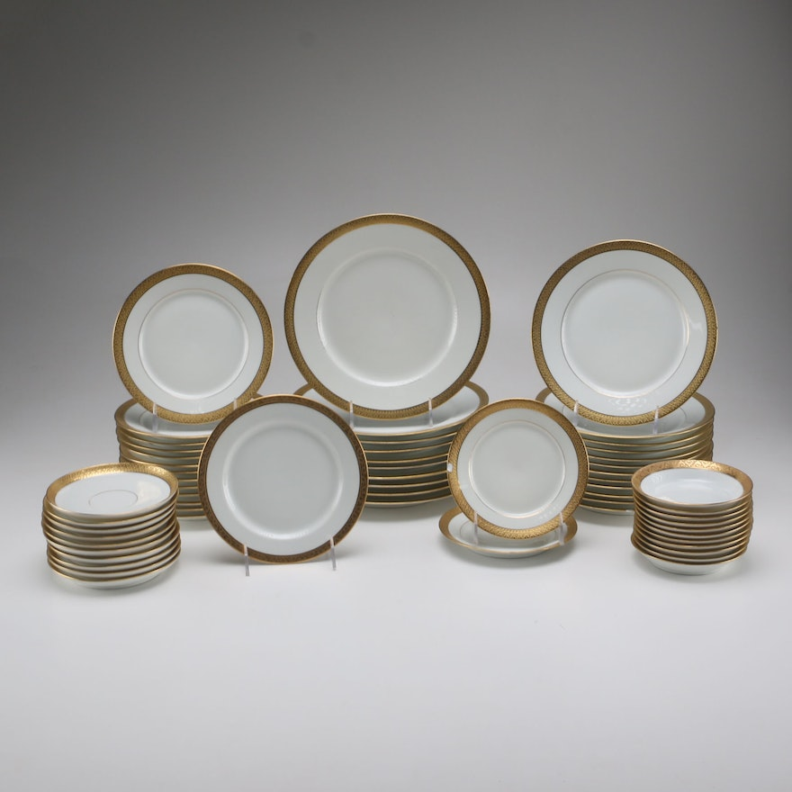 Gold Rimmed Limoges For Marshall Fields China Tableware