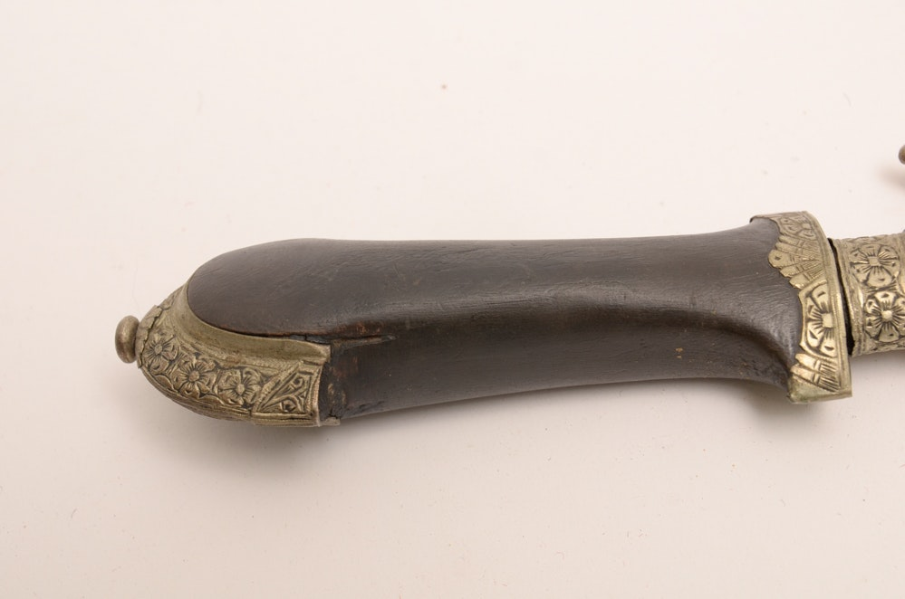 Collection Of Middle Eastern Daggers Including A Khunjar