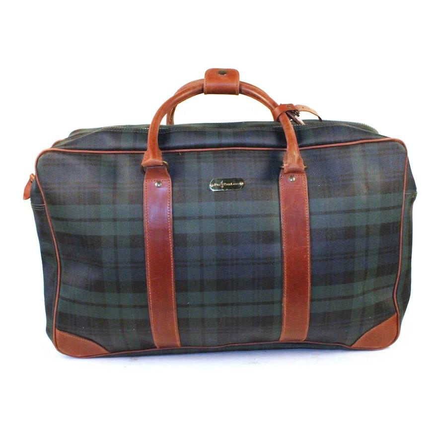 939cf0a2244e Polo Ralph Lauren Tartan Suitcase   EBTH