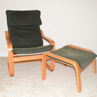 Vintage metal lounge chair ebth - Chairs similar to poang ...