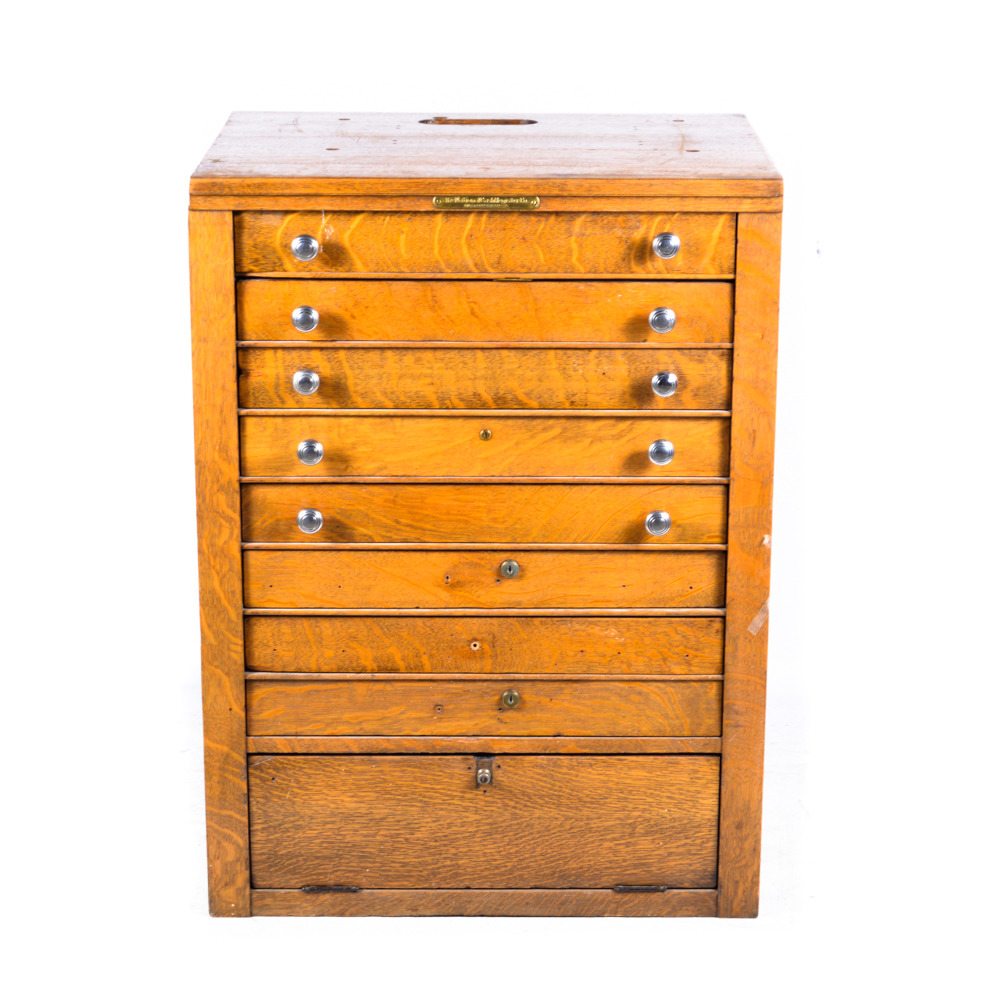 Late 19th-Early 20th Century Oak Cash Register Cabinet by The ...