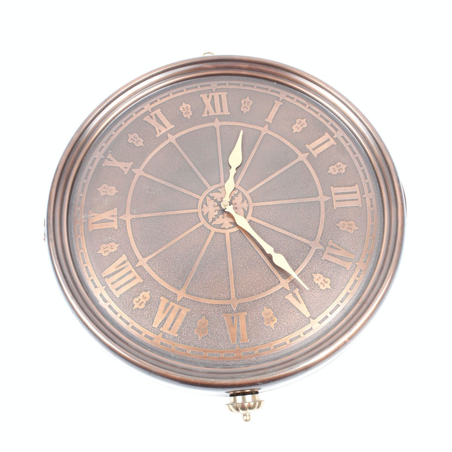 Metal Outdoor Clock On Stand