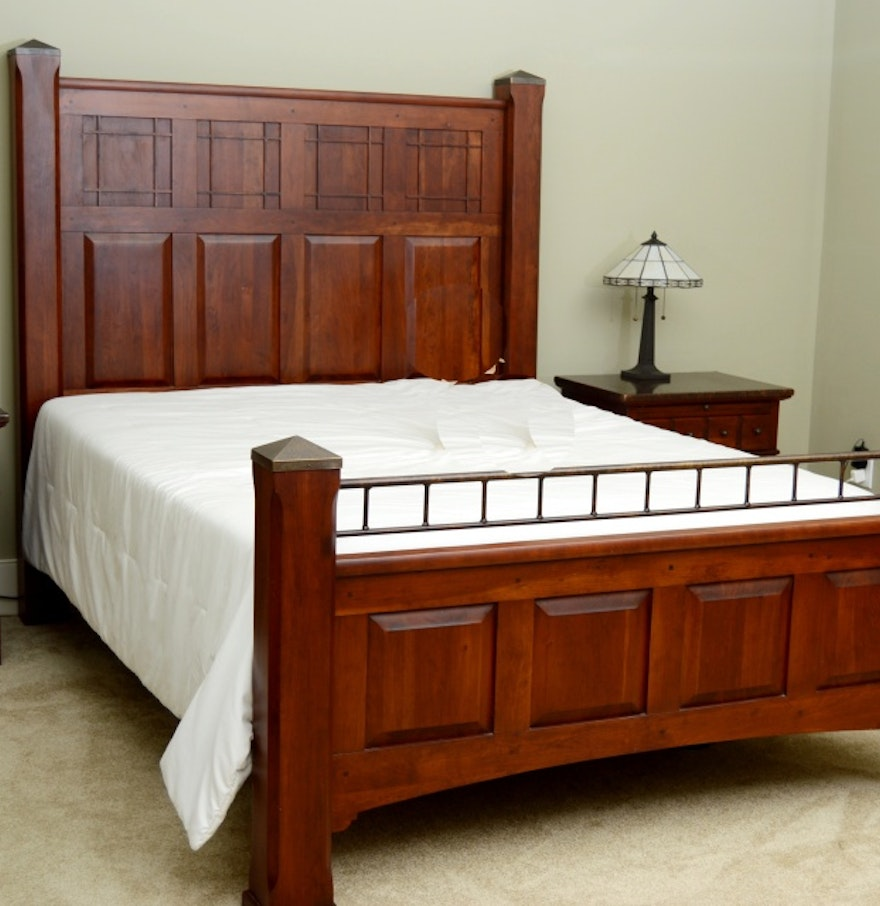 Lexington arts and crafts collection bed frame and for Arts and crafts beds