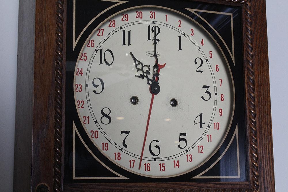 Ethan Allen Regulator Style Wall Clock Ebth