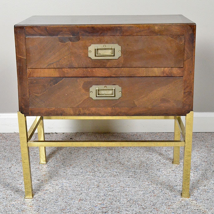 Contemporary Campaign Style Side Table