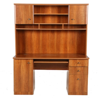 Young Hinkle Hutch With Angled Desk Ebth