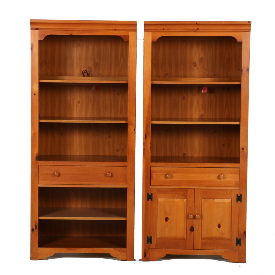 Set Of Two Broyhill Bookcases