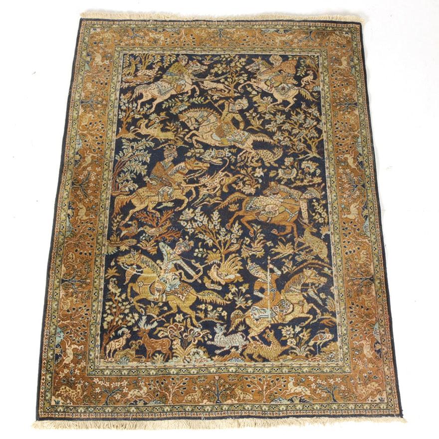 "Persian Hand Woven Bakhtiari Style Wool Area Rug Ebth: Louis De Pootere ""Samarkand"" Area Rug"