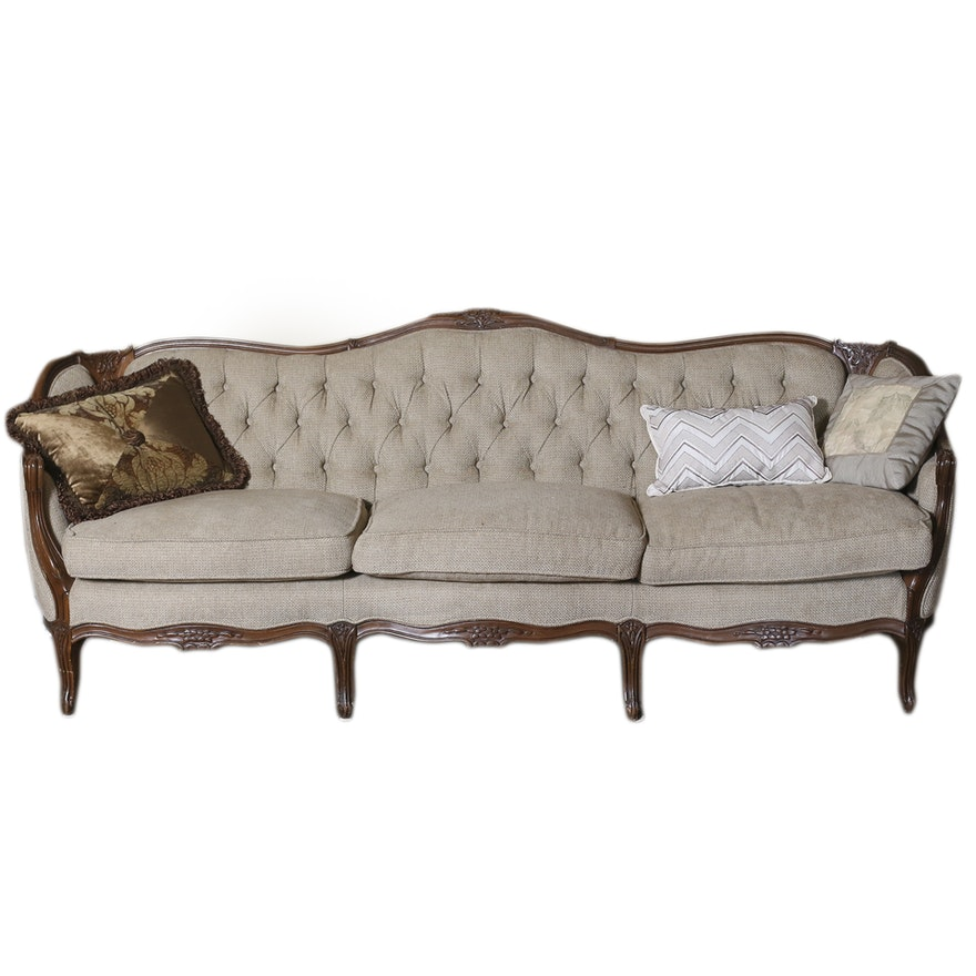 Antique Camel Back Sofa Large Georgian Style Chippendale