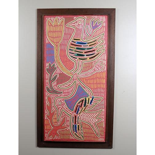 Bird Themed Mola Folk Art