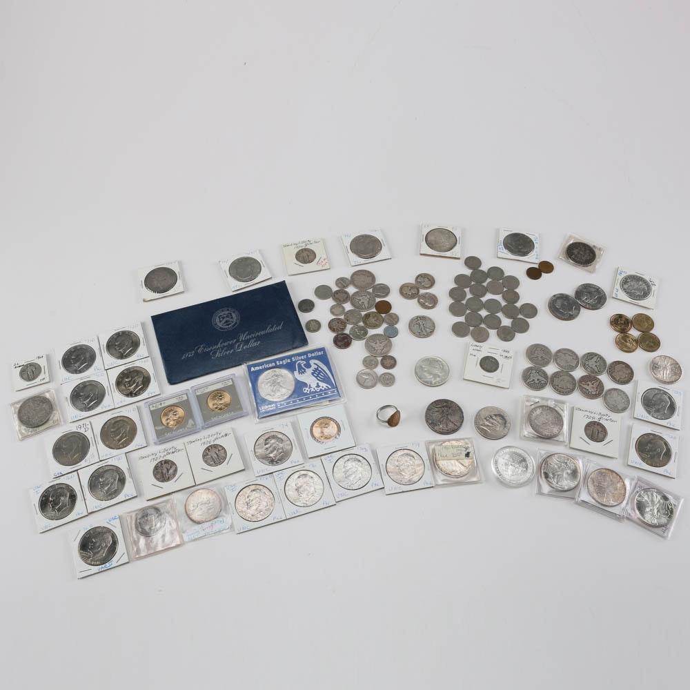 Silver Morgan Dollars, Peace Dollar, 1993 Silver Eagle and More