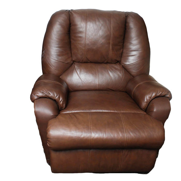 Chocolate Leather Recliner by Strato Lounger ...  sc 1 st  Everything But The House & Chocolate Leather Recliner by Strato Lounger : EBTH islam-shia.org