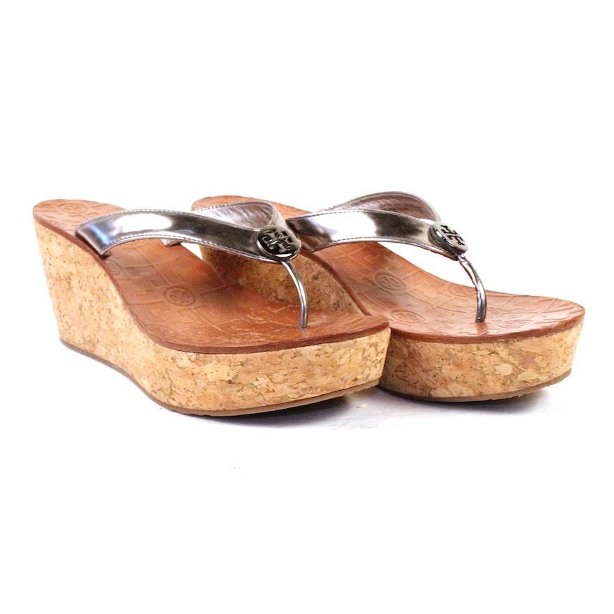 77d1b715af43 Tory Burch Cork Wedge Sandals