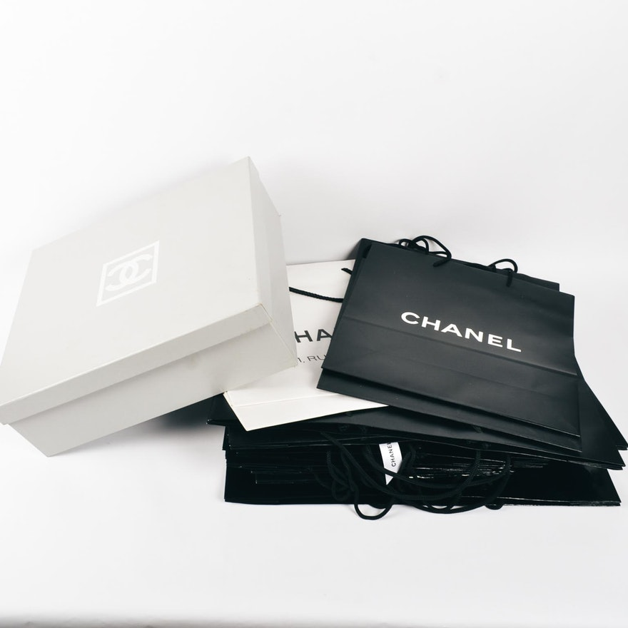8ff4b1d34d30 Assortment of Chanel Gift Boxes and Bags : EBTH