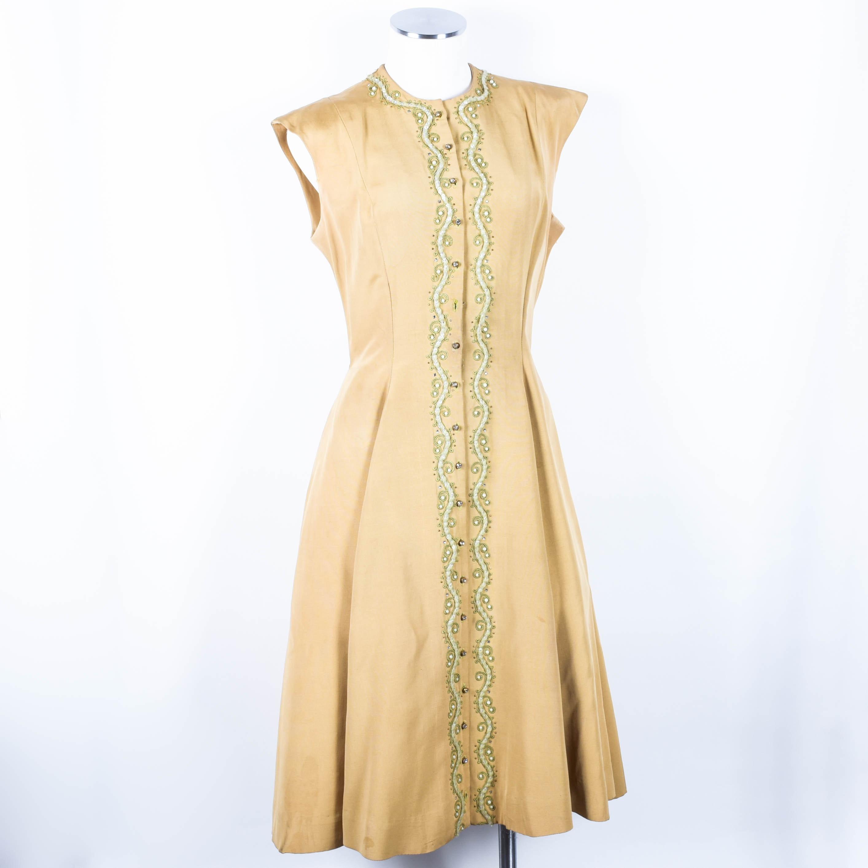 Vintage 1950s Carlye Gabardine Party Dress