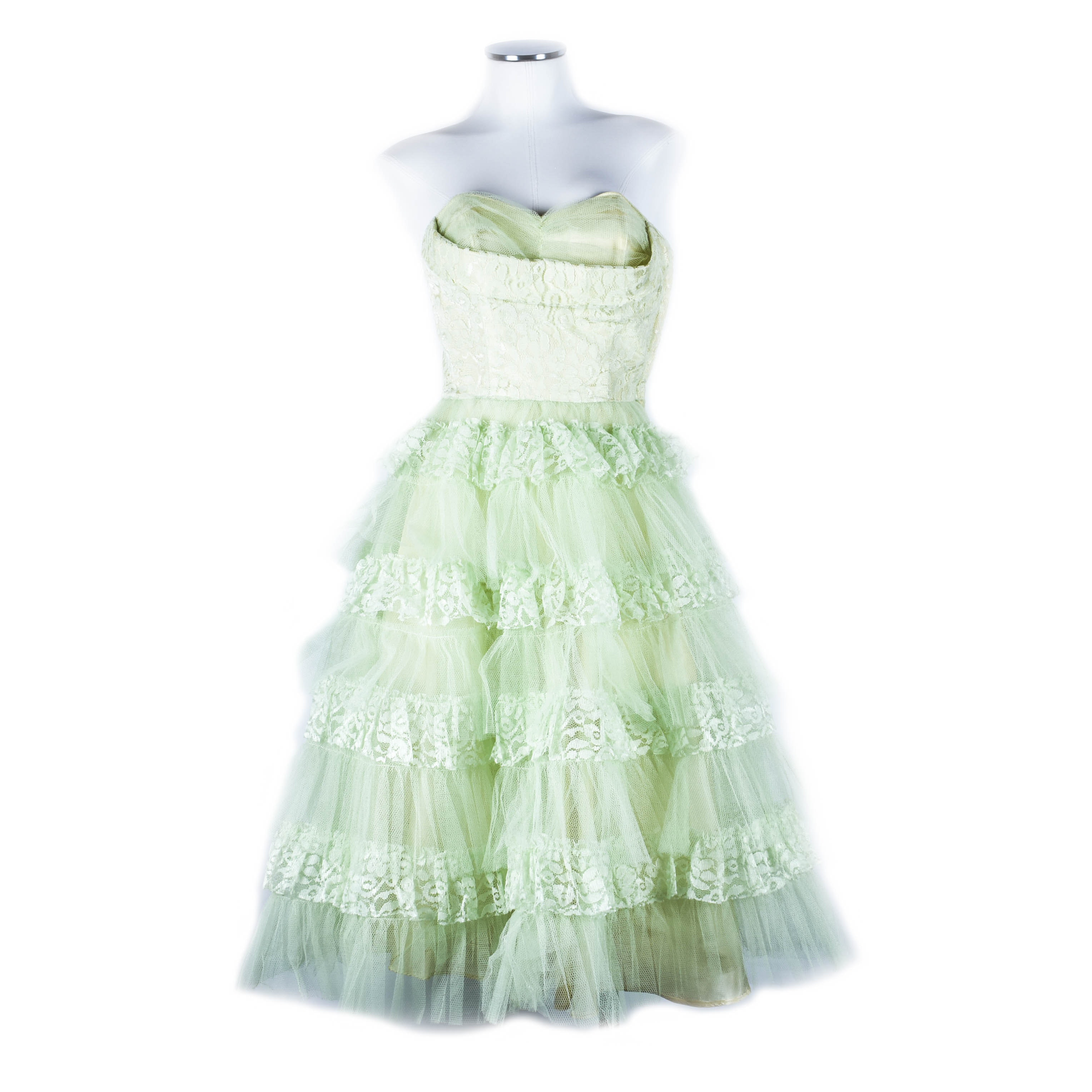 Vintage Lace and Tulle Party Dress