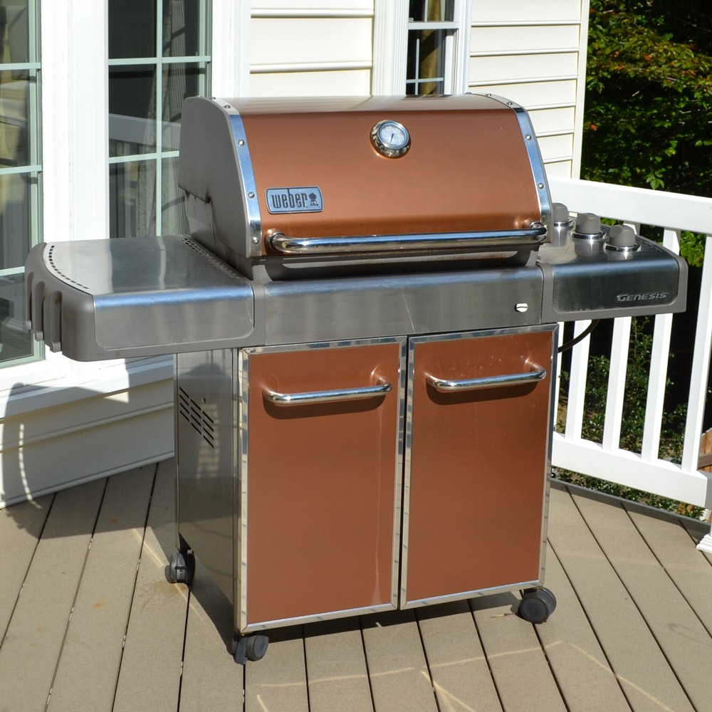 weber genesis ep310 grill with cover