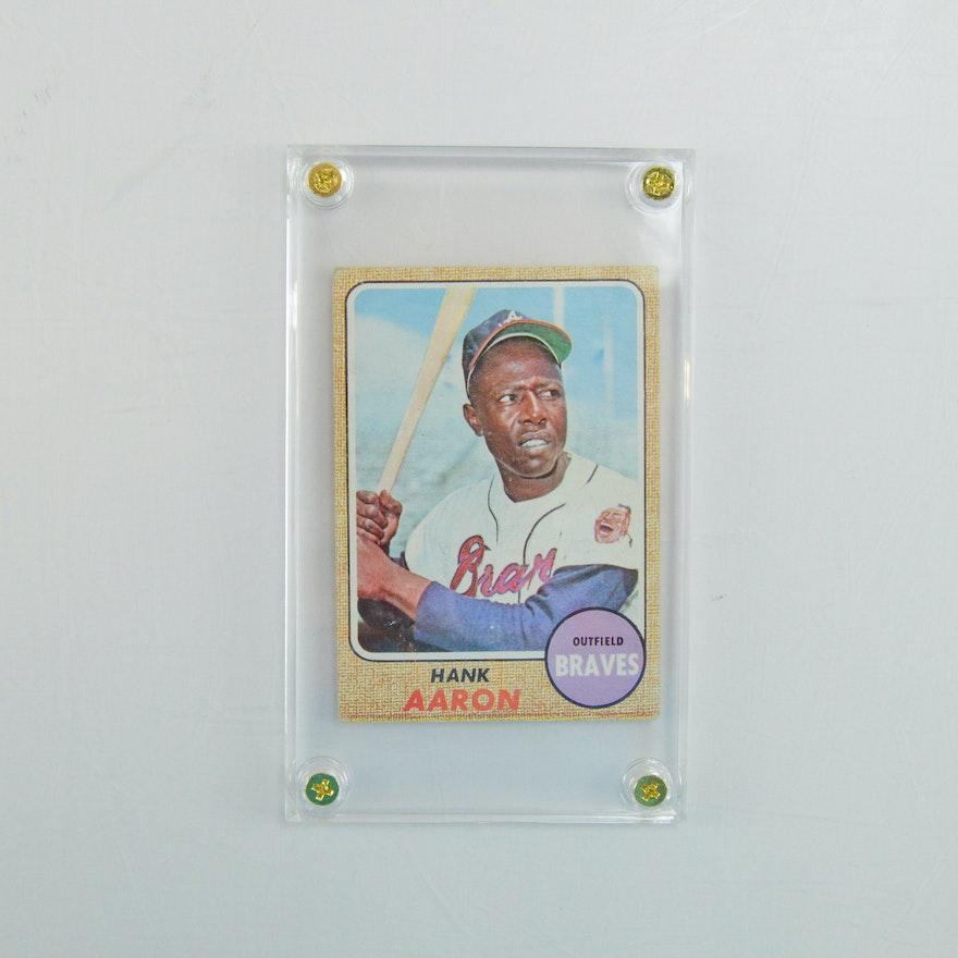 1968 Topps Hank Aaron Baseball Card 110