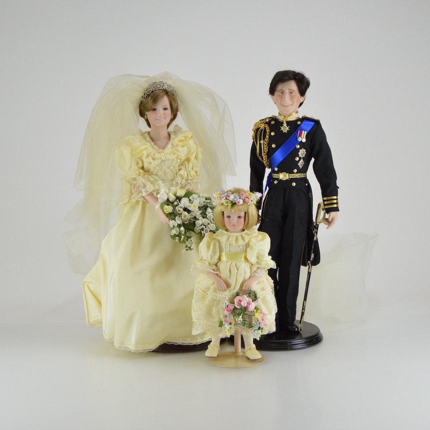 Danbury Mint Princess Diana and Prince Charles Royal Wedding Dolls ...