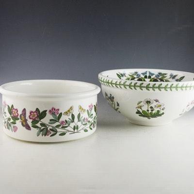 portmeirion botanical garden salad server bowl and vegetable souffle bowl ebth
