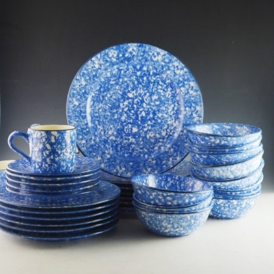 Stangl Pottery Town and Country Dinnerware Set of Five ... & Stangl Pottery Town and Country Dinnerware Set of Five : EBTH